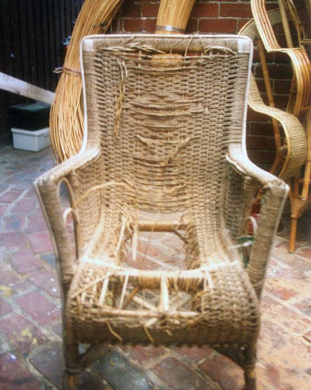 Amazing Seagrass Chair   Before Repair
